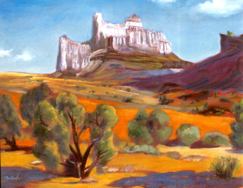 White Castle San Rafael Swell, Utah (landscapes, Oil) - Fine Art by Donald G. Vogl, Fort Collins, Colorado