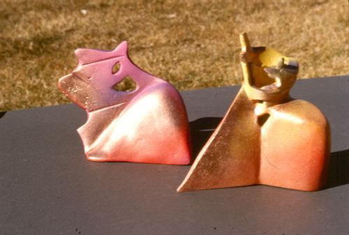 Wing and Prayer  (ceramics, Raku) - Fine Art by Donald G. Vogl, Fort Collins, Colorado