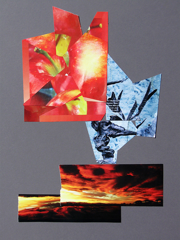 Afterglow  (collages, Collage) - Fine Art by Donald G. Vogl, Fort Collins, Colorado