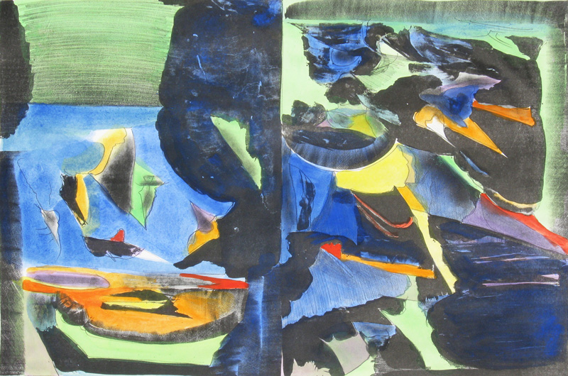 Another Place  (abstracts, Lithograph) - Fine Art by Donald G. Vogl, Fort Collins, Colorado