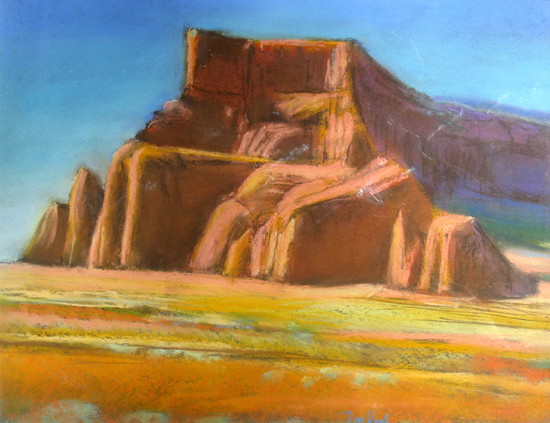 Arches Castle Arches National Park, Utah (landscapes, Pastel) - Fine Art by Donald G. Vogl, Fort Collins, Colorado