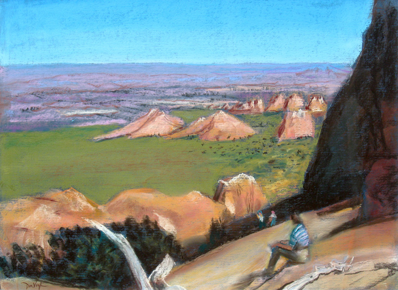 Arches North Utah (landscapes, Pastel) - Fine Art by Donald G. Vogl, Fort Collins, Colorado