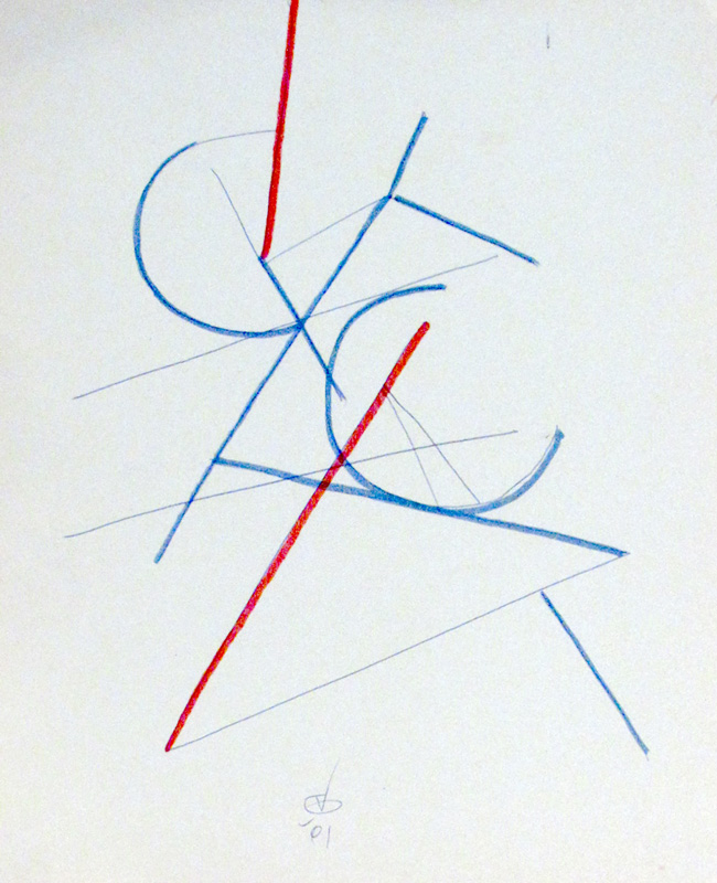 Arcs and Angles  (abstracts, Pen and Markers) - Fine Art by Donald G. Vogl, Fort Collins, Colorado