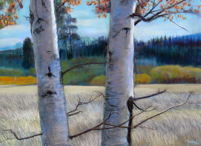 Aspen Colorado (landscapes, Pastel) - Fine Art by Donald G. Vogl, Fort Collins, Colorado
