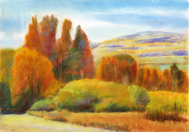 Autumn Expanse Sun Valley, Idaho (landscapes, Pastel) - Fine Art by Donald G. Vogl, Fort Collins, Colorado