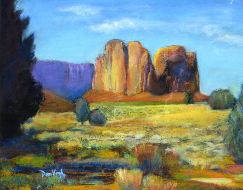 Back Road, Sedona Sedona, Arizona (landscapes, Pastel) - Fine Art by Donald G. Vogl, Fort Collins, Colorado