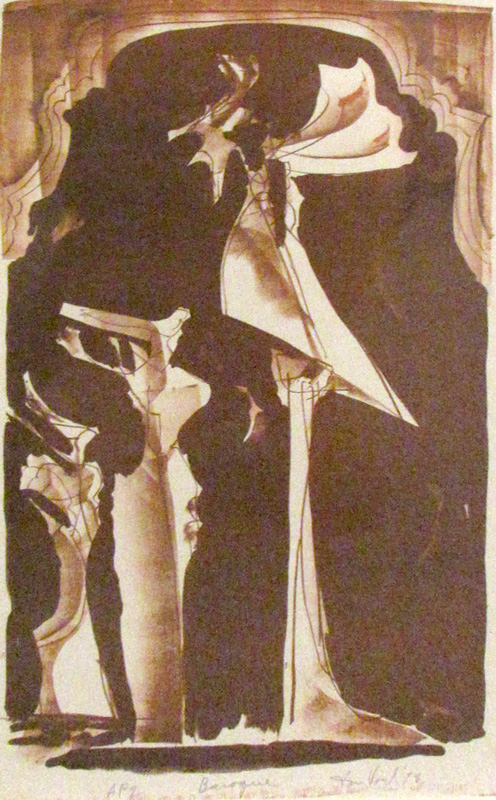 Baroque  (abstracts, Lithograph) - Fine Art by Donald G. Vogl, Fort Collins, Colorado