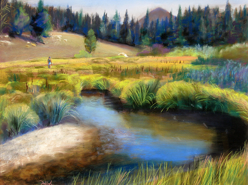 Beaver Ponds Rocky Mountain National Park, Colorado (landscapes, Pastel) - Fine Art by Donald G. Vogl, Fort Collins, Colorado