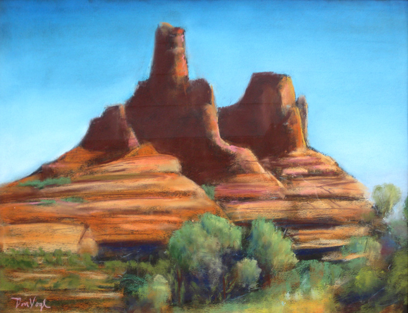 Bell Rock Sedona, Arizona (landscapes, Pastel) - Fine Art by Donald G. Vogl, Fort Collins, Colorado