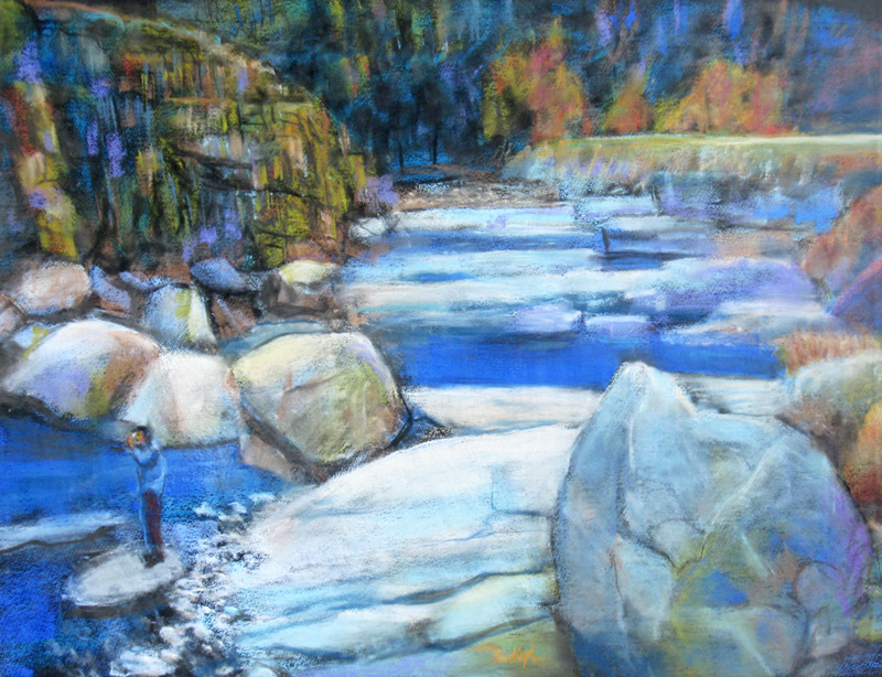 Big Thompson Big Thompson River, Colorado (landscapes, Pastel) - Fine Art by Donald G. Vogl, Fort Collins, Colorado