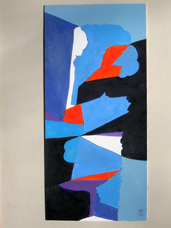 Blue Growth  (abstracts, Acrylic) - Fine Art by Donald G. Vogl, Fort Collins, Colorado