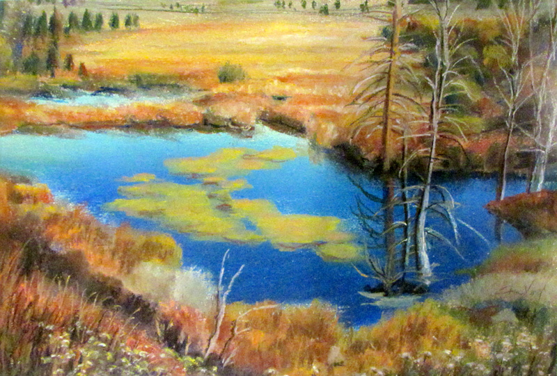 Blue Sky Red Cliff, Colorado (landscapes, Pastel) - Fine Art by Donald G. Vogl, Fort Collins, Colorado