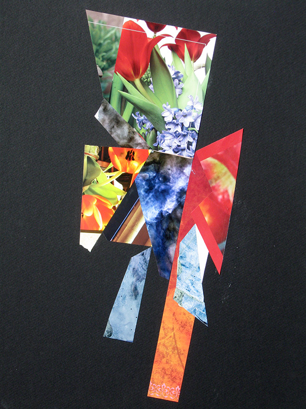 Bouquet  (collages, Collage) - Fine Art by Donald G. Vogl, Fort Collins, Colorado