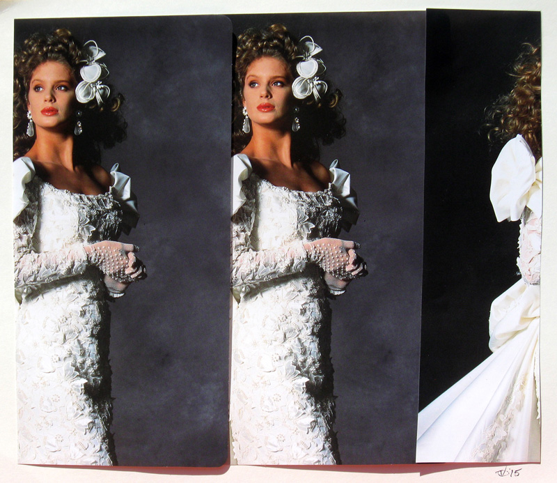 The Bride  (collages, Collage) - Fine Art by Donald G. Vogl, Fort Collins, Colorado