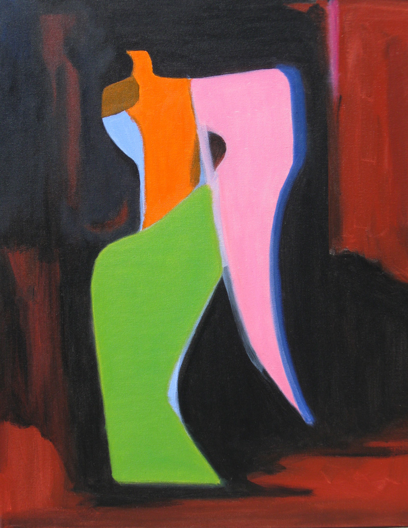 Bright Angel  (abstracts figures, Acrylic) - Fine Art by Donald G. Vogl, Fort Collins, Colorado