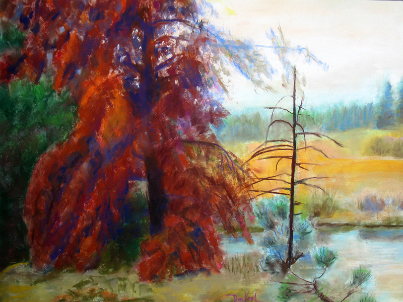 Bright Finale Colorado (landscapes, Pastel) - Fine Art by Donald G. Vogl, Fort Collins, Colorado