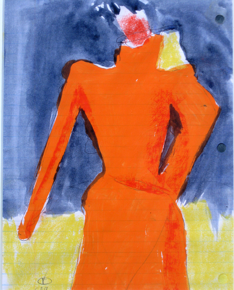 Bright Girl  (abstracts figures, Acrylic) - Fine Art by Donald G. Vogl, Fort Collins, Colorado
