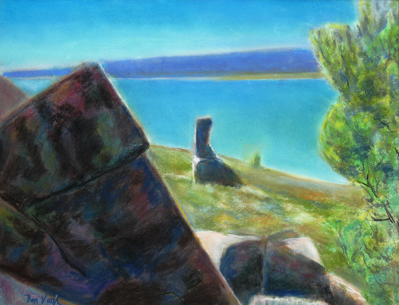 Calm Day, Horsetooth Reservoir Horsetooth Reservoir, Colorado (landscapes, Pastel) - Fine Art by Donald G. Vogl, Fort Collins, Colorado