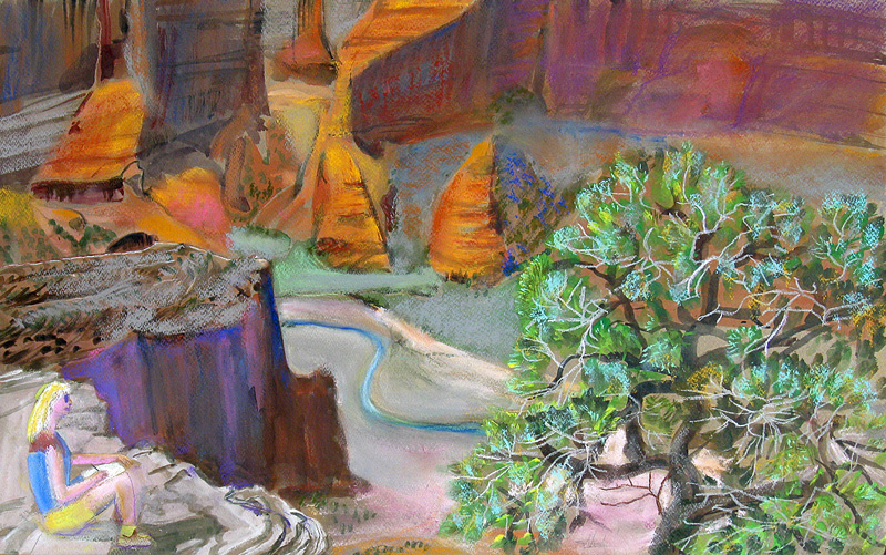 Canyon View Grand Canyon, Arizona (landscapes, Mixed Media) - Fine Art by Donald G. Vogl, Fort Collins, Colorado