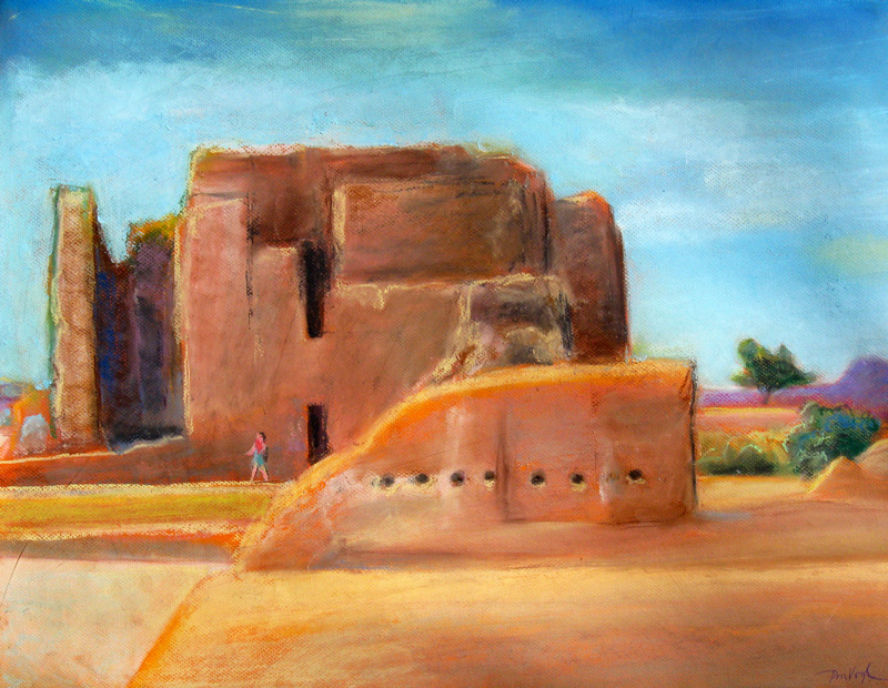 Casa Grande Ruins Casa Grande, Arizona (landscapes, Pastel) - Fine Art by Donald G. Vogl, Fort Collins, Colorado