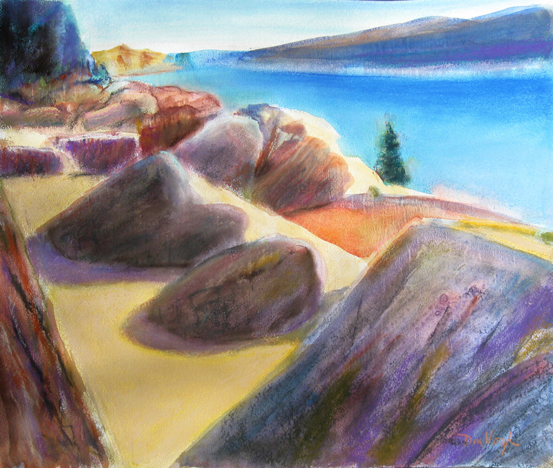 Cast Shadows Colorado (landscapes, Pastel) - Fine Art by Donald G. Vogl, Fort Collins, Colorado