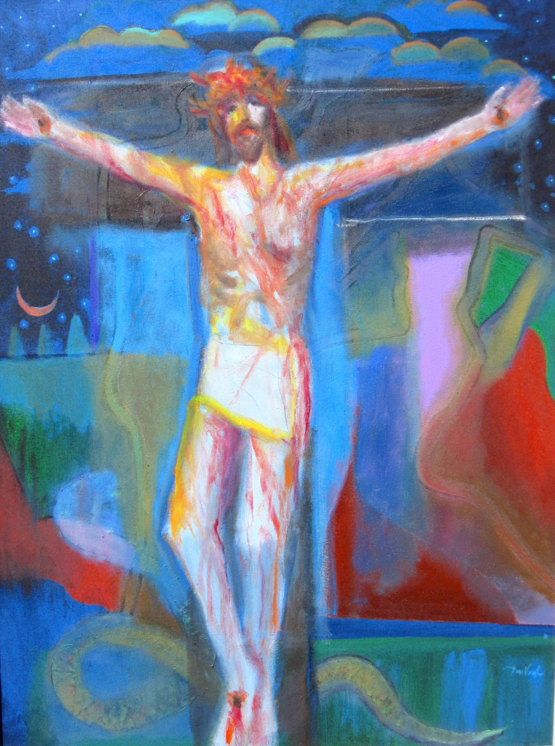 Christ Crucified  (portraits christian, Acrylic) - Fine Art by Donald G. Vogl, Fort Collins, Colorado