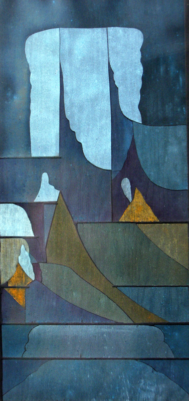 Cloud Cover  (abstracts, Woodcut (relief print)) - Fine Art by Donald G. Vogl, Fort Collins, Colorado