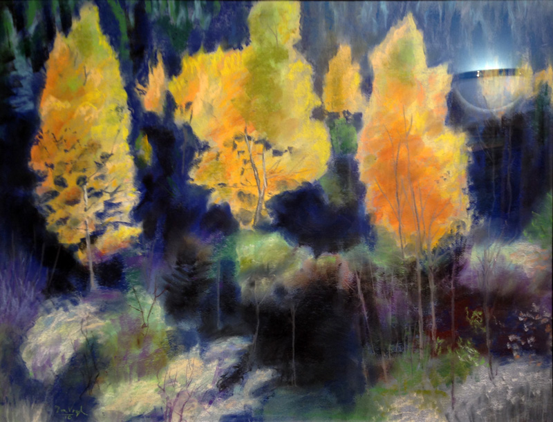 Color of Aspen Colorado (landscapes, Pastel) - Fine Art by Donald G. Vogl, Fort Collins, Colorado