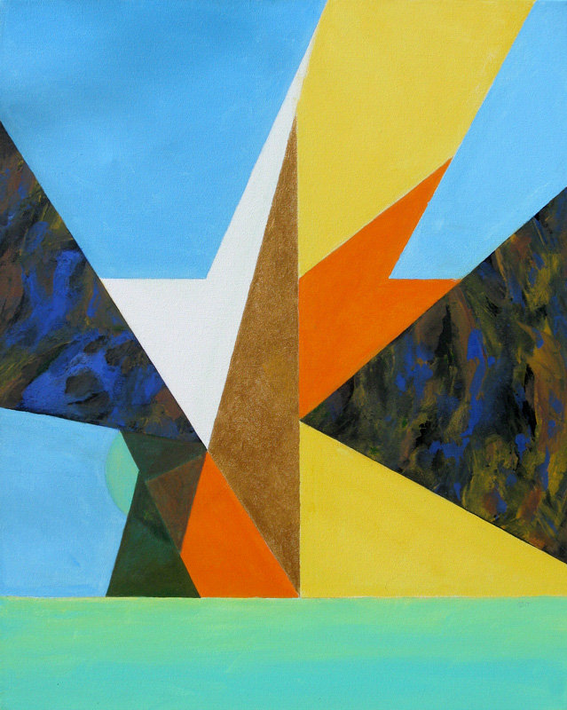 Compass  (abstracts, Acrylic) - Fine Art by Donald G. Vogl, Fort Collins, Colorado