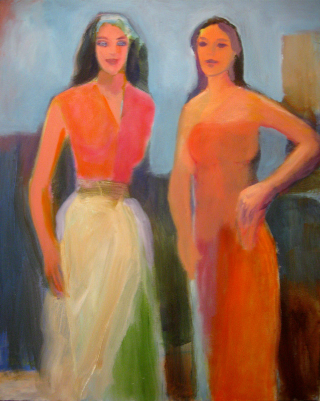Confident  (figures, Oil) - Fine Art by Donald G. Vogl, Fort Collins, Colorado