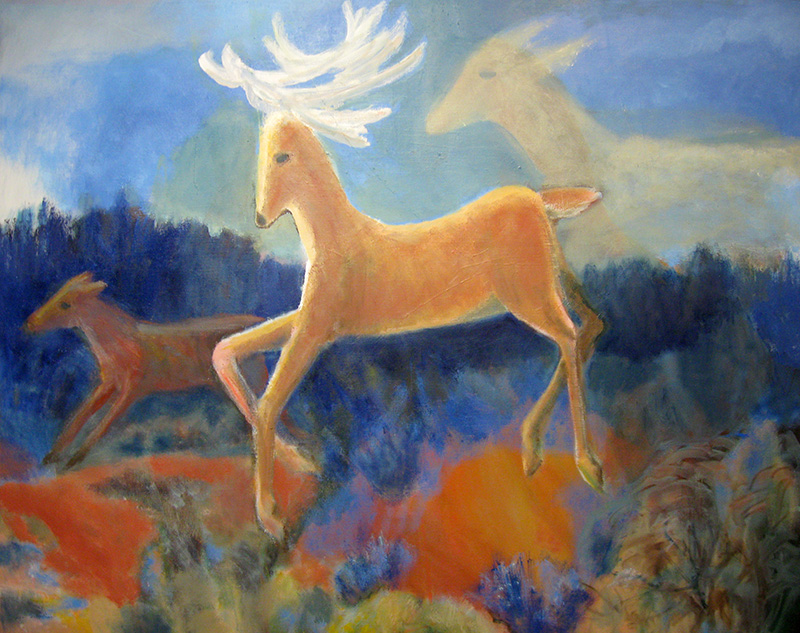 Deer Dreaming  (animals, Oil) - Fine Art by Donald G. Vogl, Fort Collins, Colorado