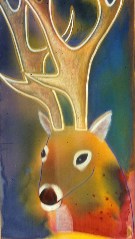 Deer Head  (animals, Acrylic) - Fine Art by Donald G. Vogl, Fort Collins, Colorado