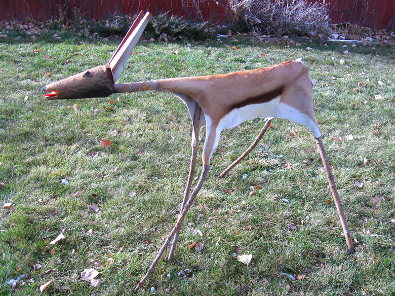 Deer  (animals sculptures, Mixed Media) - Fine Art by Donald G. Vogl, Fort Collins, Colorado