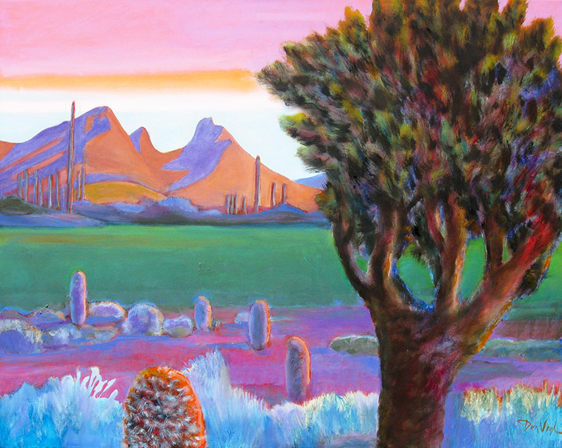 Diaz Peak, Ajo Mountains Diaz Peak, Arizona (landscapes, Oil) - Fine Art by Donald G. Vogl, Fort Collins, Colorado