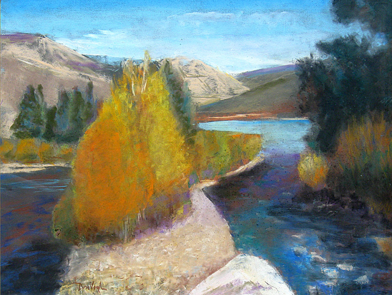Dillon Tributary Dillon, Colorado (landscapes, Pastel) - Fine Art by Donald G. Vogl, Fort Collins, Colorado