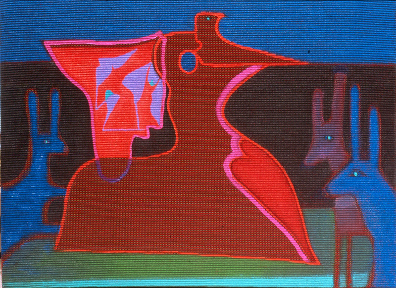 Dreamland  (abstracts figures animals, Acrylic) - Fine Art by Donald G. Vogl, Fort Collins, Colorado