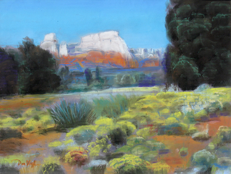 Dry Creek Road Sedona, Arizona (landscapes, Pastel) - Fine Art by Donald G. Vogl, Fort Collins, Colorado