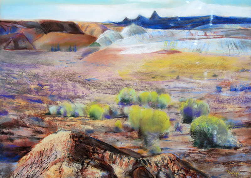 East of Bryce Bryce Canyon National Park, Utah (landscapes, Pastel) - Fine Art by Donald G. Vogl, Fort Collins, Colorado
