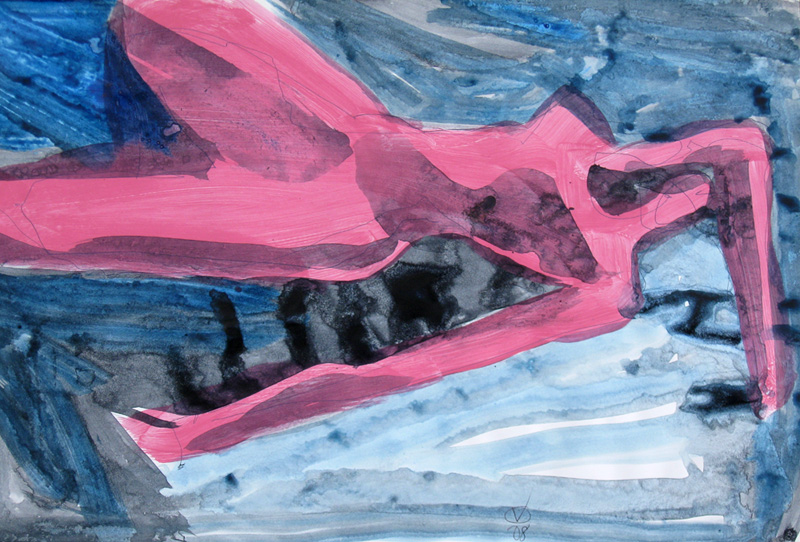 Edgewater  (abstracts figures nudes, Acrylic) - Fine Art by Donald G. Vogl, Fort Collins, Colorado