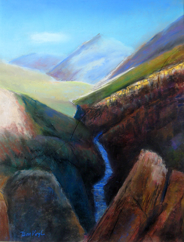 South of Elko Nevada (landscapes, Pastel) - Fine Art by Donald G. Vogl, Fort Collins, Colorado