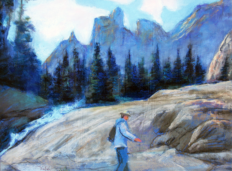 Going To the Next Level, Emerald Lake Rocky Mountain National Park, Colorado (landscapes, Pastel) - Fine Art by Donald G. Vogl, Fort Collins, Colorado