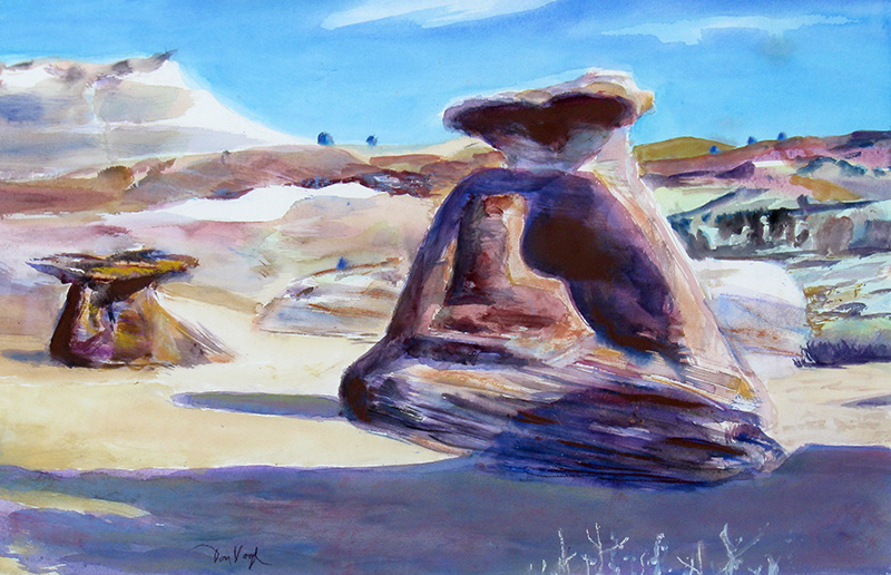 Escalante South Escalante, Utah (landscapes, Watercolor) - Fine Art by Donald G. Vogl, Fort Collins, Colorado