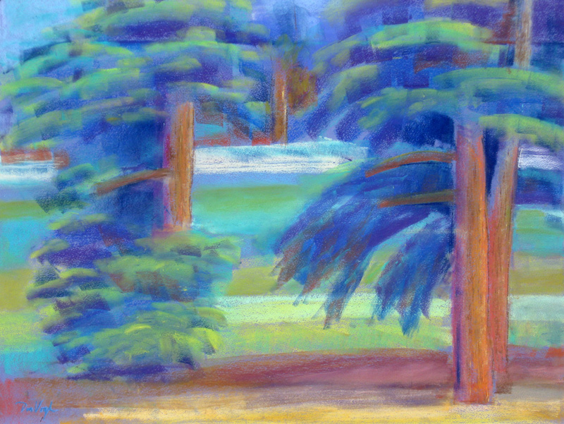 Evergreen Colorado (landscapes, Pastel) - Fine Art by Donald G. Vogl, Fort Collins, Colorado