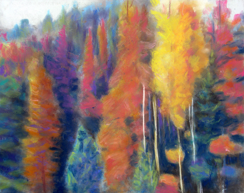 Fall Colors  (landscapes, Pastel) - Fine Art by Donald G. Vogl, Fort Collins, Colorado
