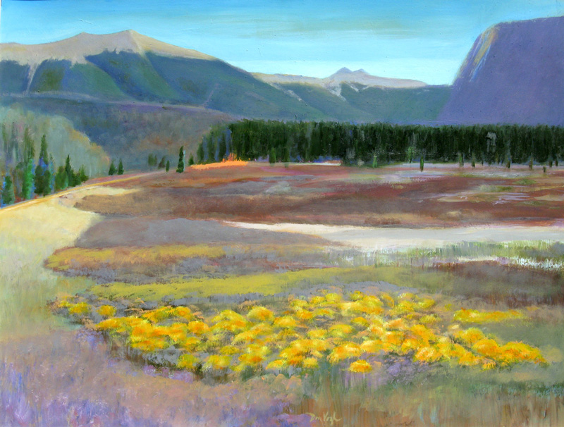 Fall Colors North of Cameron Pass, Colorado (landscapes, Acrylic and Oil) - Fine Art by Donald G. Vogl, Fort Collins, Colorado