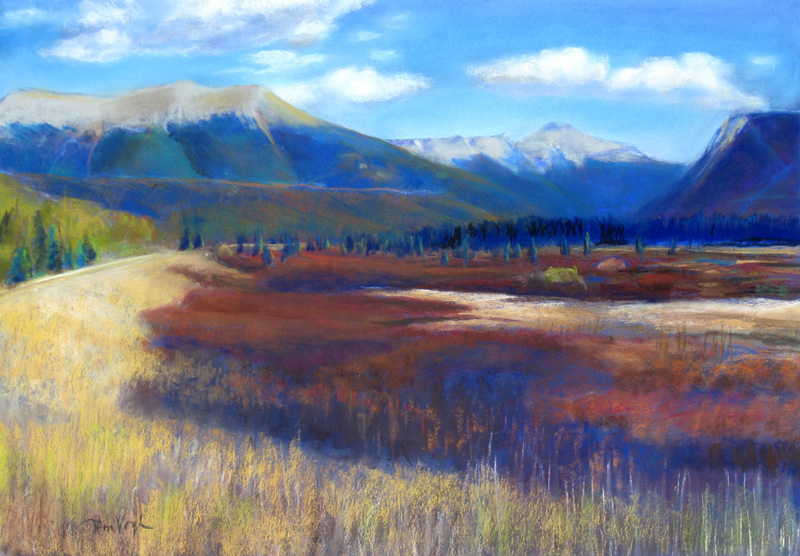 Fall Colors North of Cameron Pass, Colorado (landscapes, Pastel) - Fine Art by Donald G. Vogl, Fort Collins, Colorado