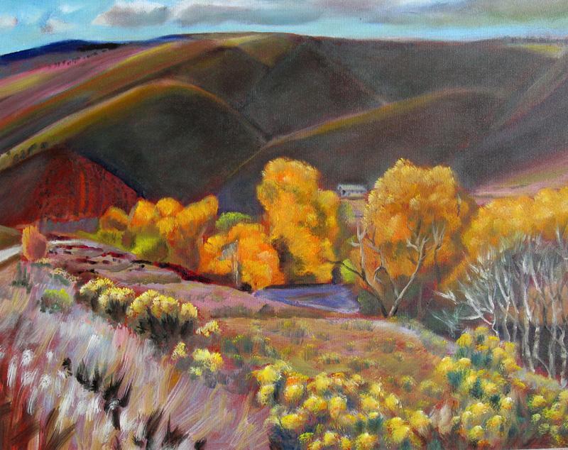 Fall Day Masonville, Colorado (landscapes, Oil) - Fine Art by Donald G. Vogl, Fort Collins, Colorado