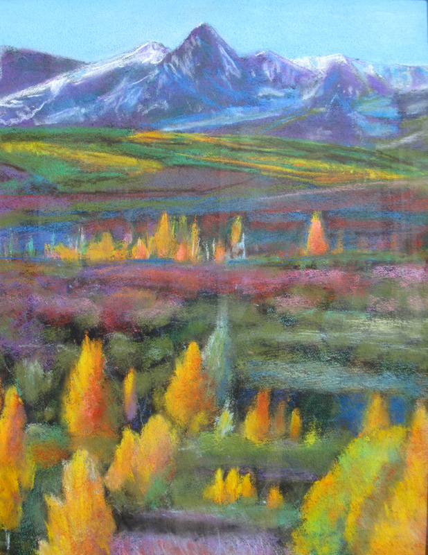 Fall Glory Colorado (landscapes, Pastel) - Fine Art by Donald G. Vogl, Fort Collins, Colorado