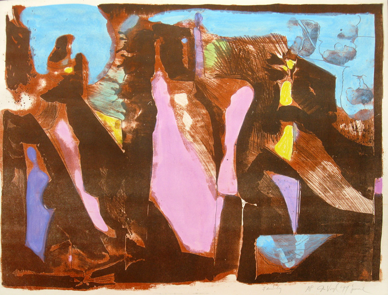 Family  (abstracts, Lithograph) - Fine Art by Donald G. Vogl, Fort Collins, Colorado