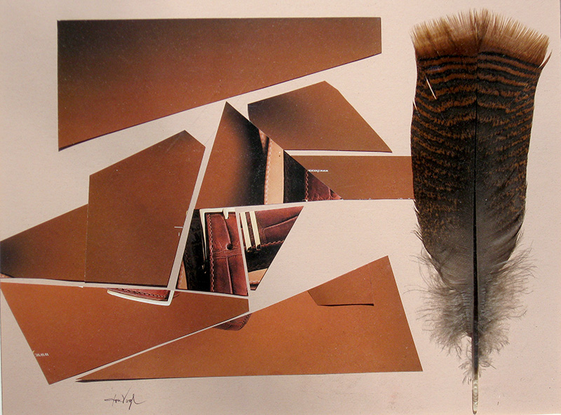Feather and Leather  (collages, Collage) - Fine Art by Donald G. Vogl, Fort Collins, Colorado